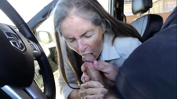Car, Blowjob cum, Granny blowjobs, Granny blowjob, Car granny