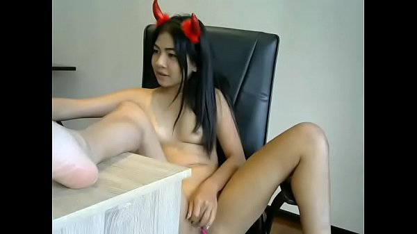 Asian young, Young pussy, Plug, Asian dildo, Desk