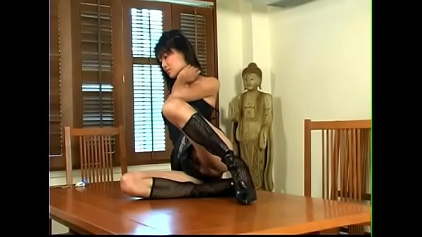 Stocking, Stocking shemale, Shemale cum, Leather, Cum on face, Stockings anal